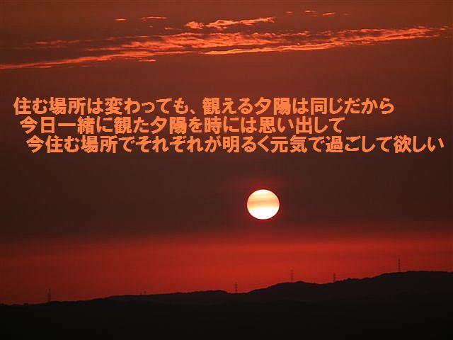 帰省の仲間と観る夕陽 (2)
