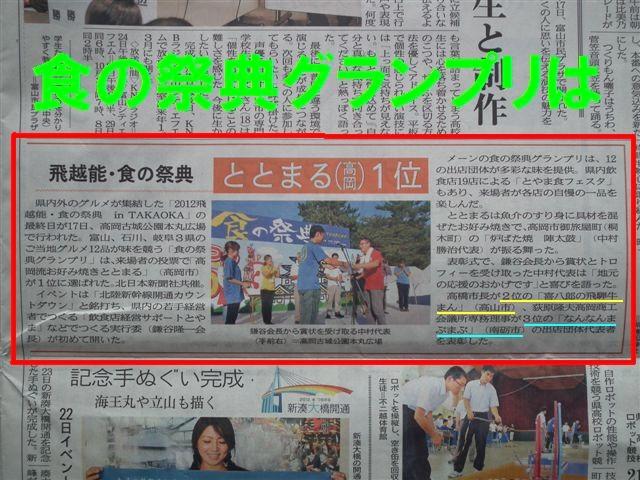北日本新聞 朝刊