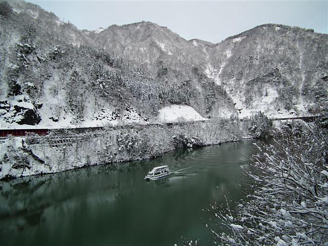 冬の庄川峡 (3)