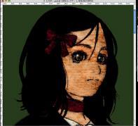 4_1基本色が終わったら、影を塗ります。私は作品にテクスチャを使う事が多いのですが、テクスチャが適用されたままだと全体的に(特に髪が)暗くなり、塗りの確認をしにくいので着色時は外す事が多いです
