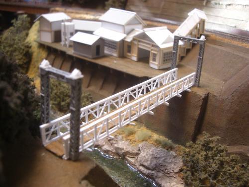 鉄道模型 吊り橋 保津峡 13