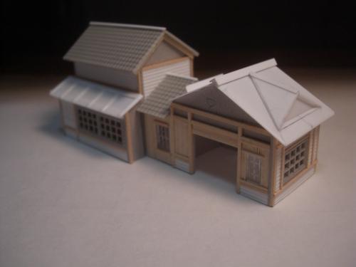 鉄道模型 ローカル線駅舎 1