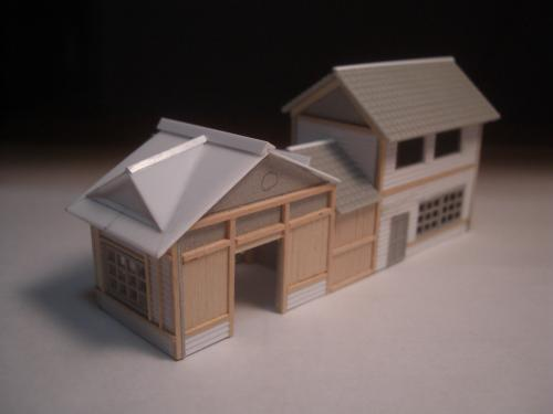 鉄道模型 ローカル線駅舎 2
