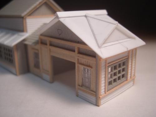 鉄道模型 ローカル駅舎 トタン屋根 9