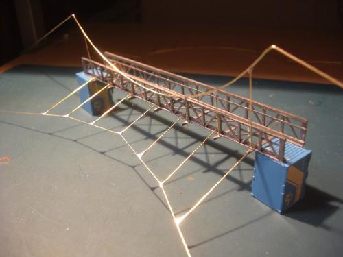 鉄道模型 吊り橋 保津峡 20