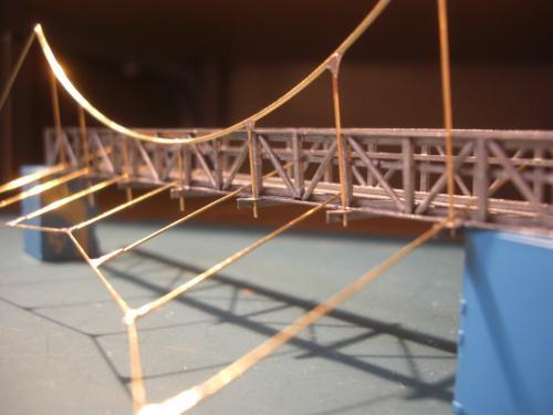 鉄道模型 吊り橋 保津峡 14
