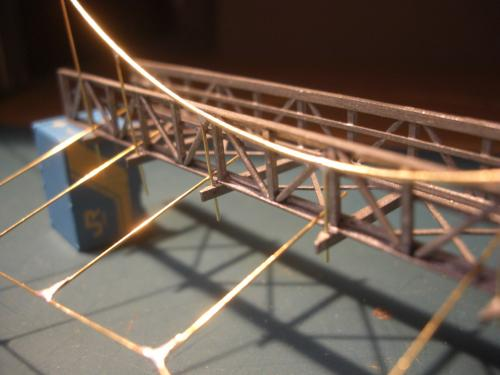 鉄道模型 吊り橋 保津峡 15