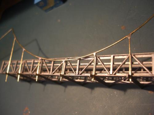 鉄道模型 吊り橋 保津峡 17