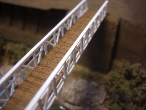 鉄道模型 吊り橋 保津峡 3