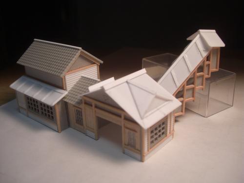 鉄道模型 ローカル線駅舎 3