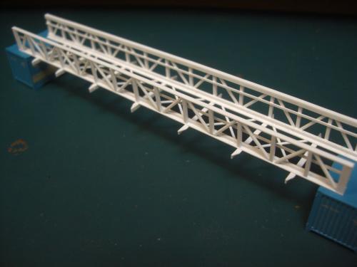 鉄道模型 吊り橋 保津峡 5