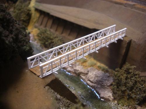 鉄道模型 吊り橋 保津峡 8