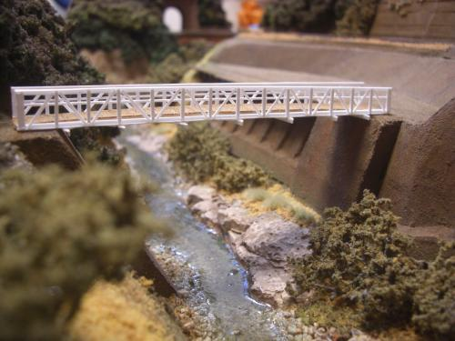 鉄道模型 吊り橋 保津峡 7