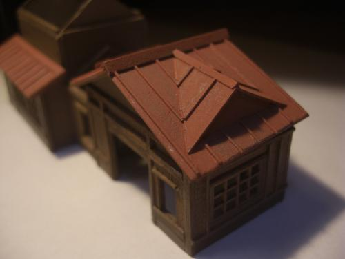 鉄道模型 ローカル駅舎 トタン屋根 10