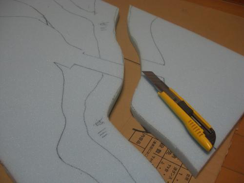 Nゲージ 渓谷線 山造成6