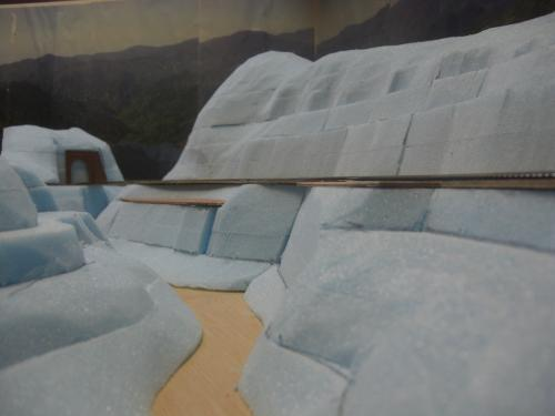 Nゲージ 渓谷線 山造成完了 2