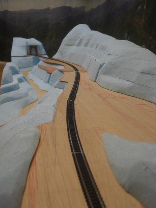 Nゲージ 渓谷線 山造成完了 1