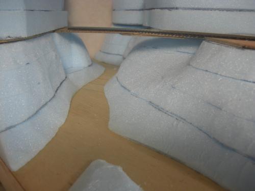 Nゲージ 渓谷線 山造成16