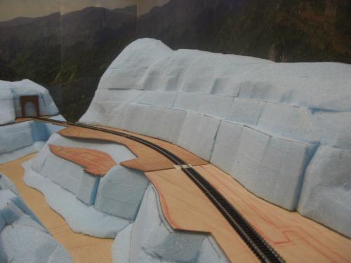 Nゲージ 渓谷線 山造成完了 3
