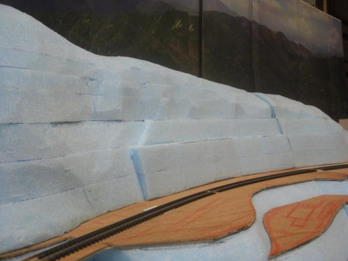 Nゲージ 渓谷線 山造成完了 5