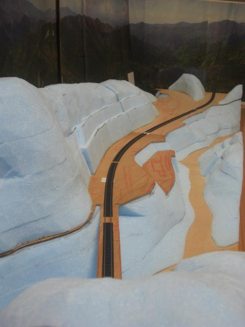 Nゲージ 渓谷線 山造成完了 4