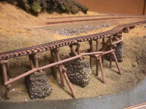 ナロー 森林鉄道 木組み陸橋 5