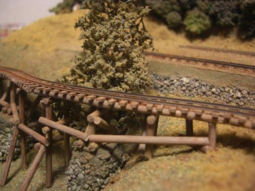 ナロー 森林鉄道 木組み陸橋 6