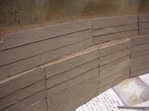 Nゲージ レイアウト 昭和コンクリート防護壁 4