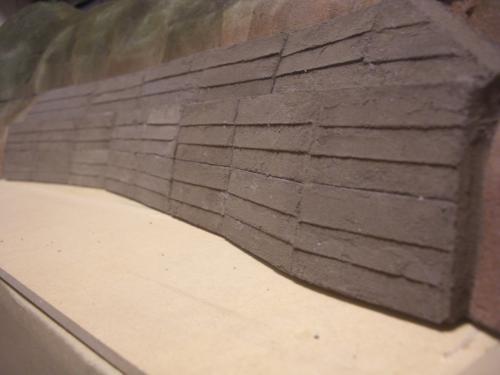 Nゲージ レイアウト 昭和コンクリート防護壁 7
