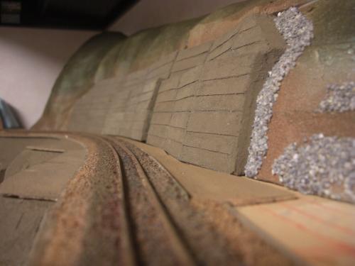 Nゲージ レイアウト 昭和コンクリート防護壁 8