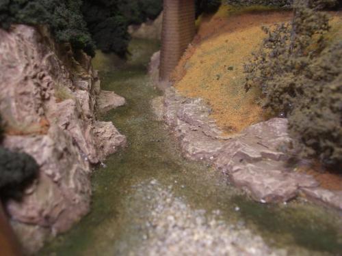 Nゲージレイアウト 水面を作る 2
