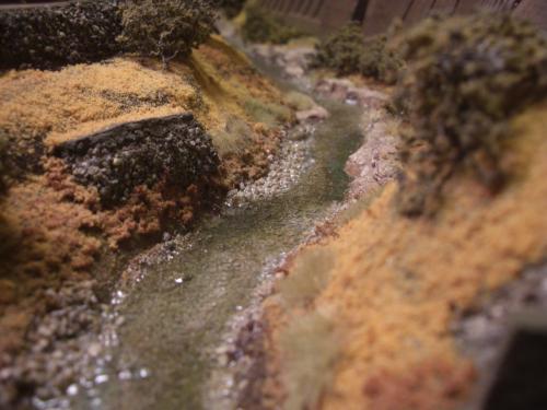 Nゲージレイアウト 水面を作る 4
