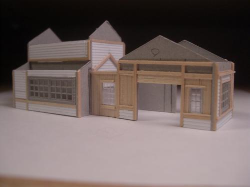 Nゲージレイアウト 駅舎 シナリー6