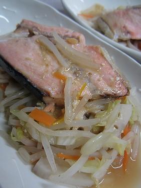 20131128 塩鮭の野菜蒸し