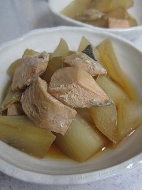 20140115 大根と鮭の生姜煮