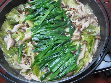 20140118 男子ごはんキャベツと豚バラの塩にんにく鍋 (1)