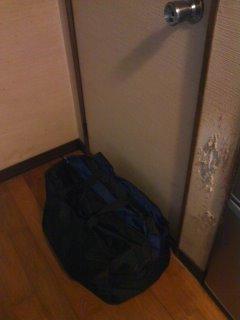 トイレ前に荷物