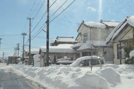 直江津の雪
