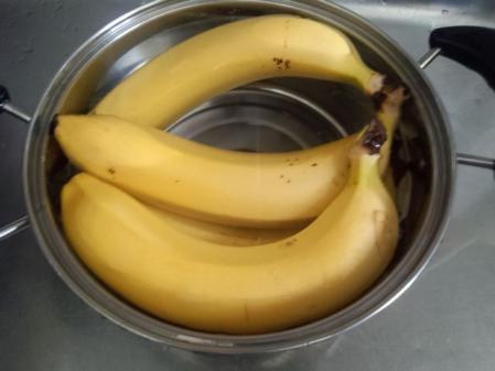 バナナお湯に