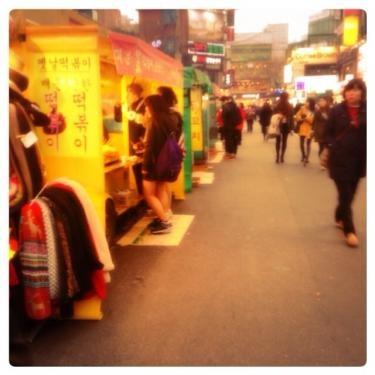 この風景を見るとやっぱり韓国だ。笑