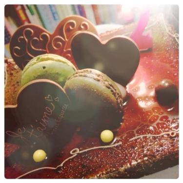 マカロンショコラケーキ、頂きました♪