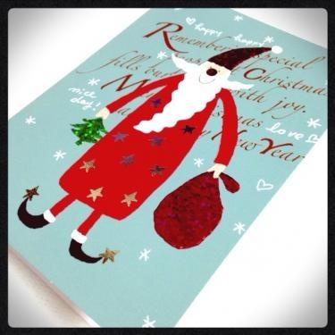 크리스마스 카드(クリスマスカード)で思いを伝える。