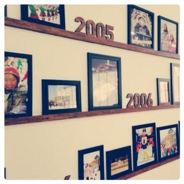 期間限定のスケート場も今年で10年目。色々な思い出の写真が展示されていました*