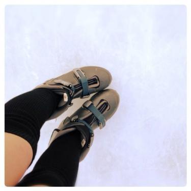 氷上に立つのは人生コレで2回目・・笑