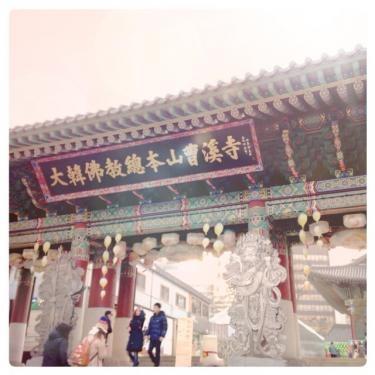 仁寺洞近くのお寺へ。