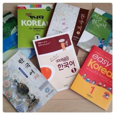 語学堂や語学学校の教科書。学校によって教科書も異なります。