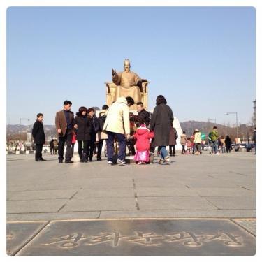 旧暦1月1日光化門広場にて。
