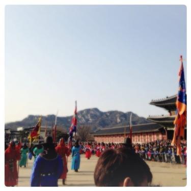 王宮守門将交代儀式 も見ることが出来ました^^