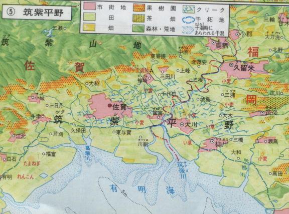 筑紫平野地図