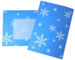 クリスマスカード ホワイトケーキ 封筒